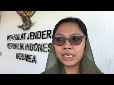 Suasana Halal Bihalal diaspora Indonesia di Noumea, New Caledonia