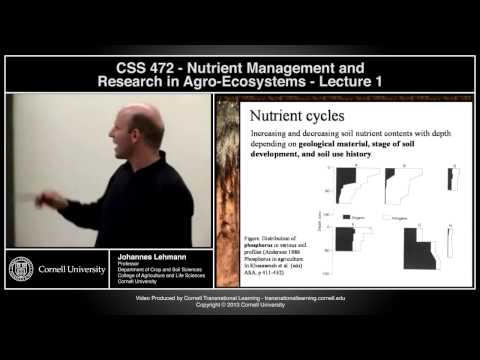 CSS472 - Nutrient Management in Agroecosystems - Lecture 1