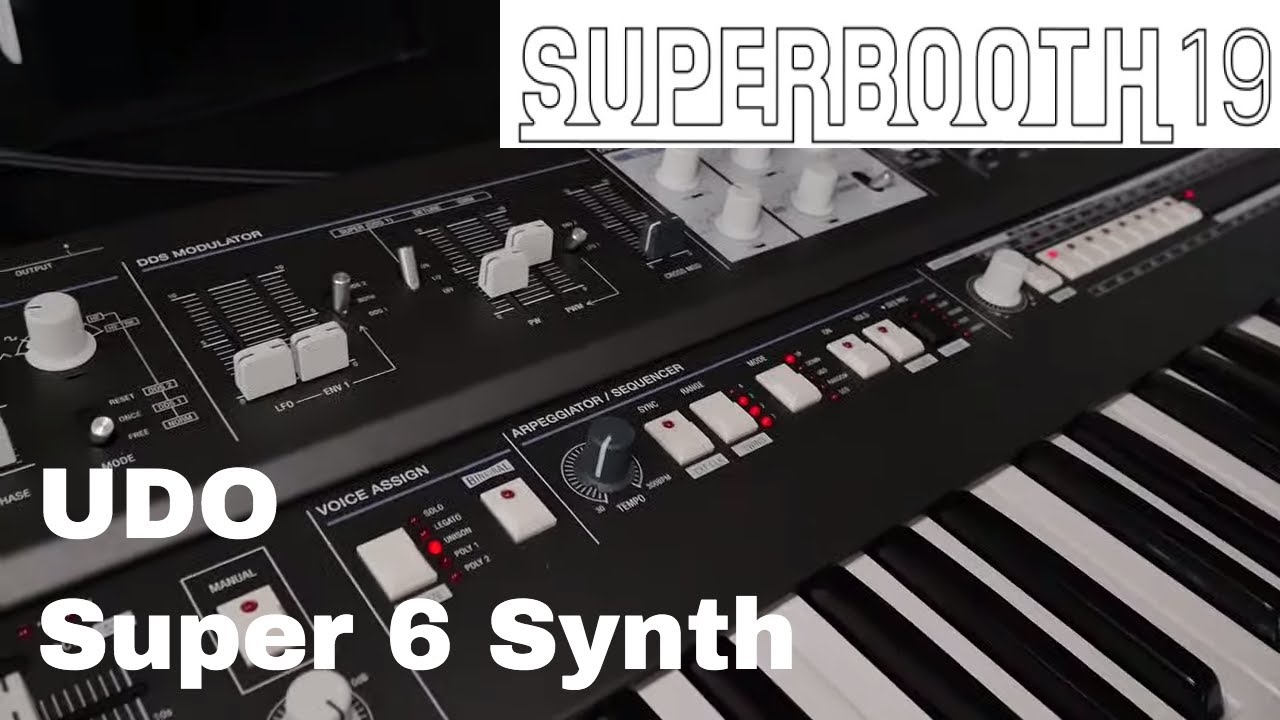 Superbooth 2019 - UDO Audio Super 6 Binaural synth First look