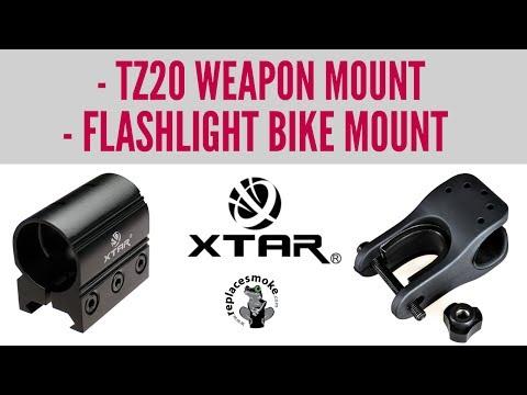 XTAR Flashlight Bike Mount & TZ20 Weapon Mount | XTAR Greece