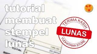 Tutorial Membuat Stempel / Cap Lunas dengan Coreldraw