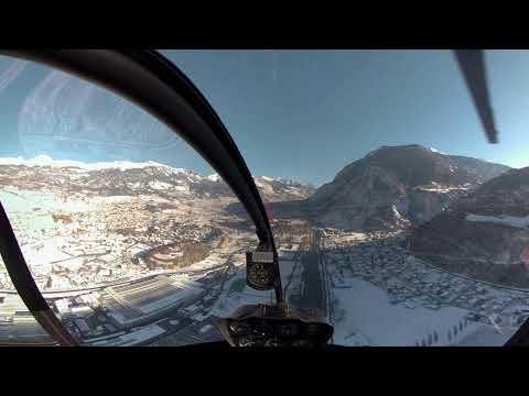 Solo Training - R22 Helicopter - Sion, Switzerland [5.2k GoPro Fusion]