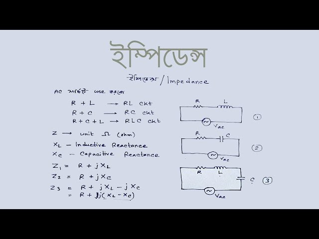 Impedance in bangla | ইম্পিডেন্স কি | Voltage Lab