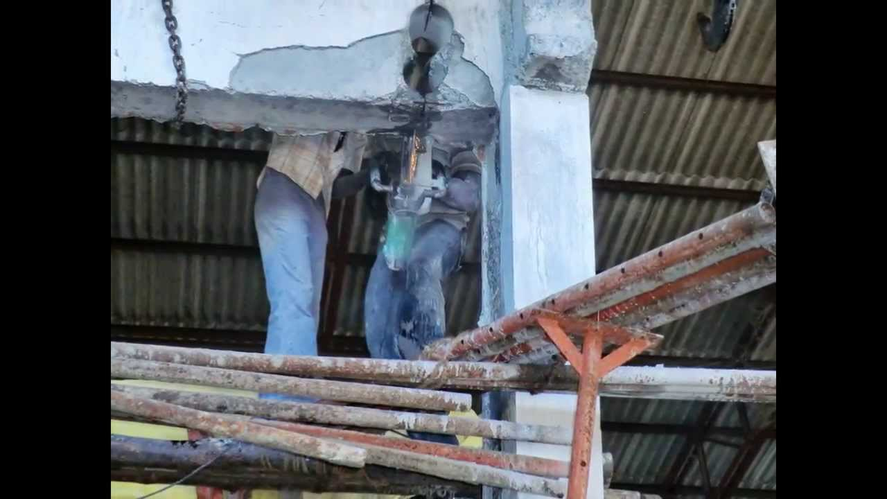 Rcc Concrete Beam Column Breaking Diamond Core Cutting