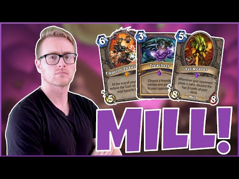 Hearthstone | No Cards for You! | Wild Treachery Mill Warlock | Rise of Shadows