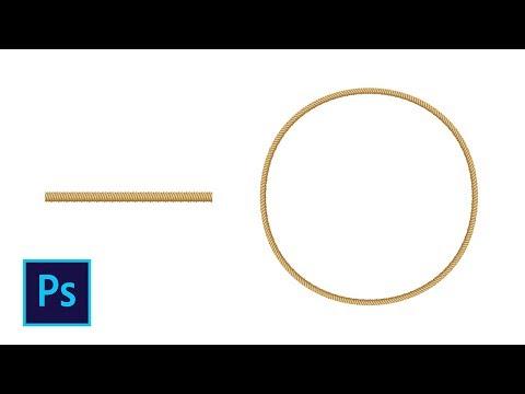 Как сделать круглую веревку в фотошопе