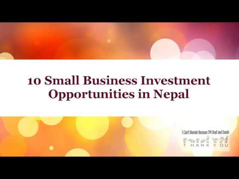 10 Small Business Investment Opportunities in Nepal