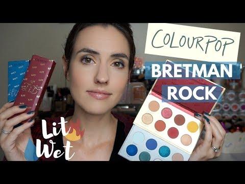 ColourPop x Bretman Rock | LIT + WET Collection Swatches + Tutorial