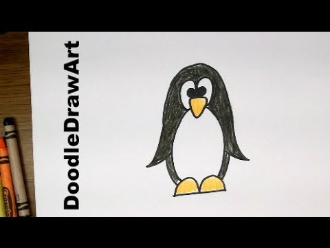Drawing How To Draw Cartoon Penguin Easy Art Tutorial For Kids Or