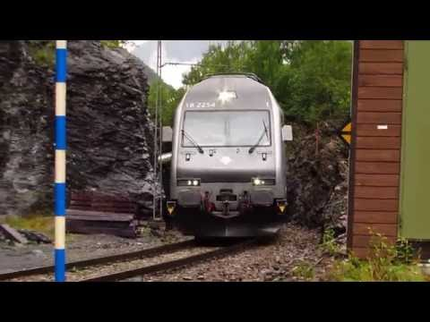 [SE NORGE TA TOGET] NSB Flamsbana Action on the Flam-Myrdal Railway, Norway