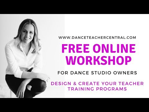 Dance Studio Owner Online Workshop
