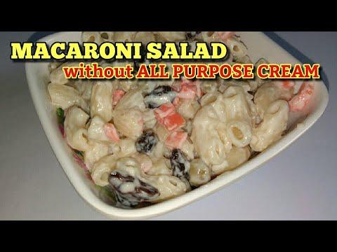 Macaroni Salad Recipe All Purpose Cream