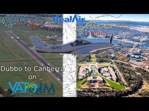 FSX Realair Lancair Legacy v2 on Vatsim. Dubbo to Canberra