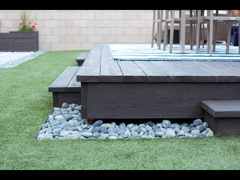 How To Build A Floating Deck Youtube
