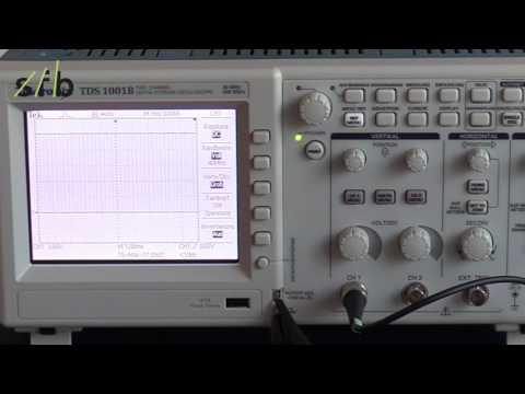Oszilloskop TDS 1001 B Tektronix Tutorial Lernvideo sfb Bildungszentrum