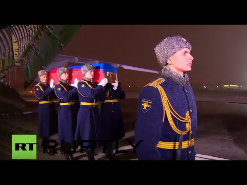 Russia: Downed Su-24 pilot Oleg Peshkov's body arrives in Moscow