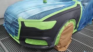 Naprawa Lakiernicza Błotnika Zderzaka Audi A6 C7