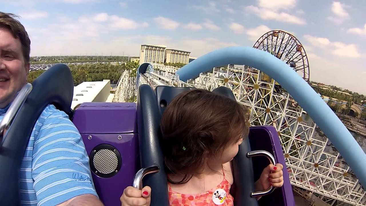 8 Year-Old Rides California Screamin\' for first time - YouTube