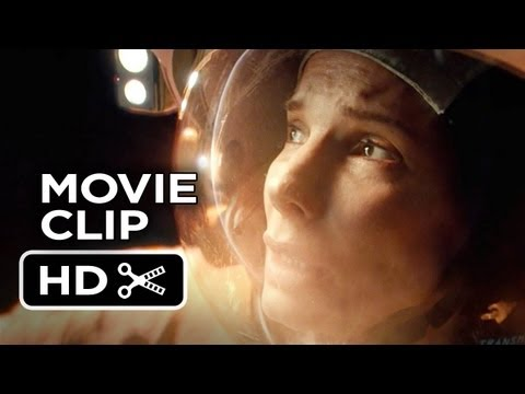 Gravity Extended CLIP - Off Structure (2013) - Sandra Bullock Movie HD