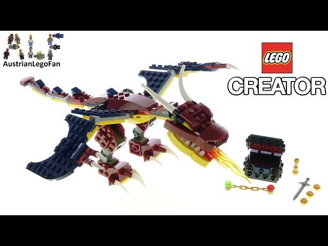 LEGO Creator 31102 Fire Dragon - Lego Speed Build Review