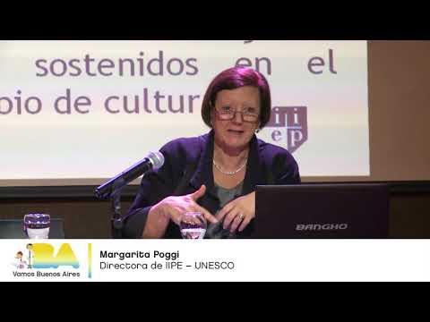 """<h3 class=""""list-group-item-title"""">Margarita Poggi - ¿Qué deberían contemplar las políticas educativas? - Seminario UEICEE</h3>"""