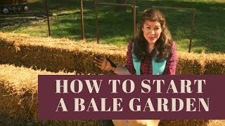 """How to Begin """"Hay Bale"""" Gardening or How to Start a Straw Bale Garden"""
