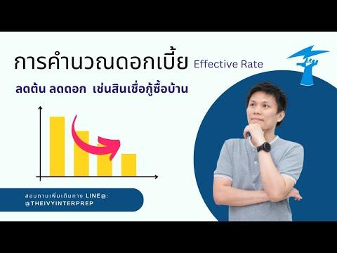 การคิดดอกเบี้ยแบบลดต้น ลดดอก (Effective Rate) (กรณีกู้ซื้อบ้าน) part 1