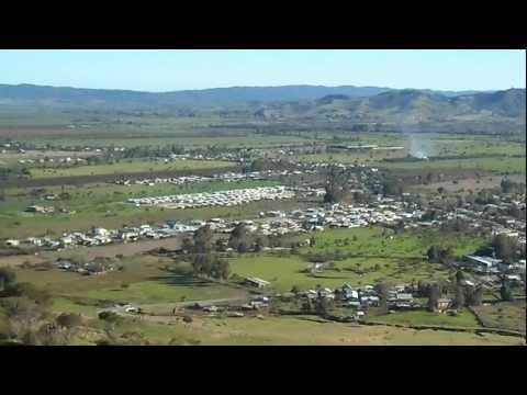 Vista Panorámica De Lolol, Provincia De Colchagua, Sexta Región De Chile HD