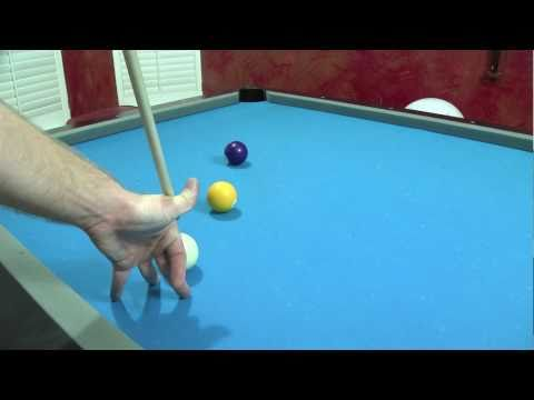 Trick Pool Shot - Masse Billiard Shot - Billiards Lessons Wilmington NC