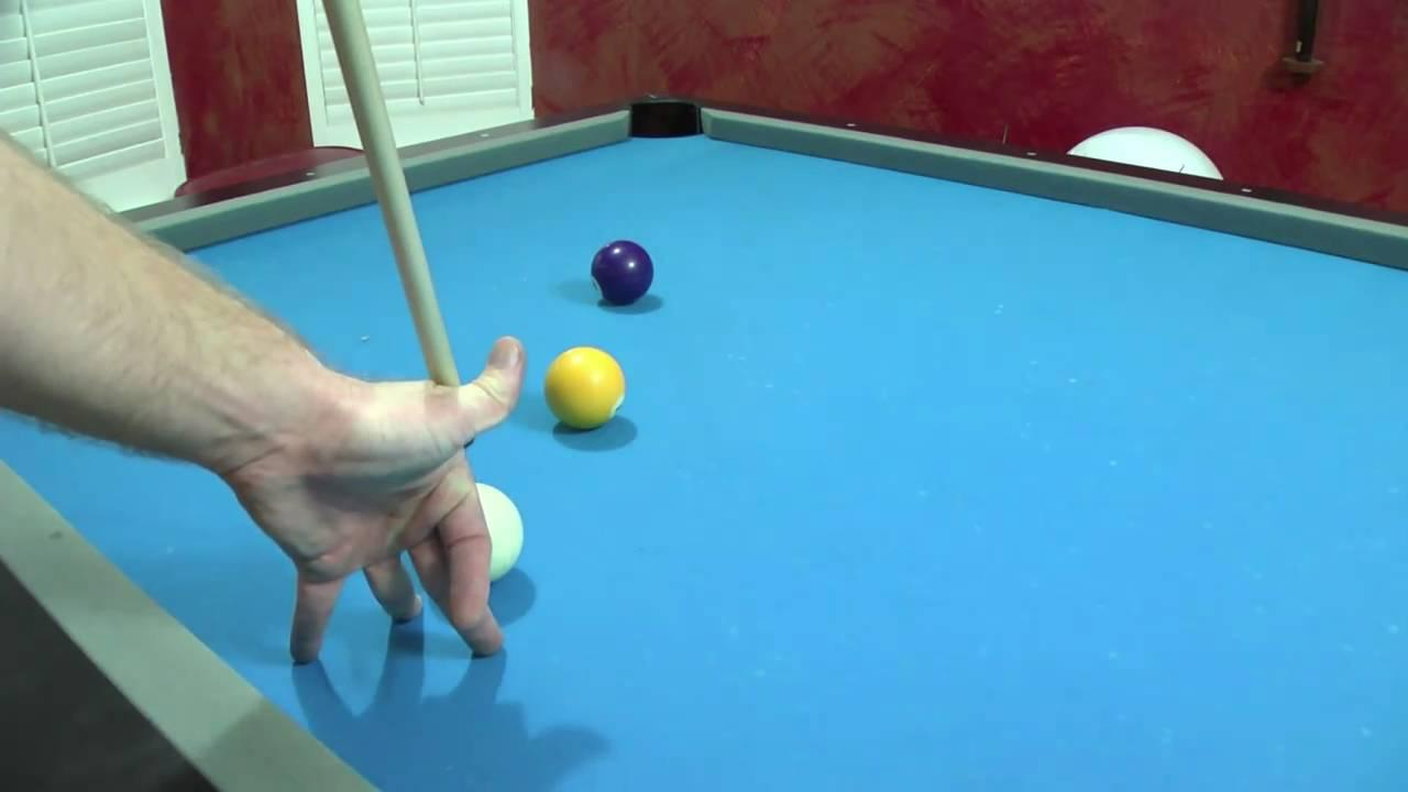 Trick Pool Shot   Masse Billiard Shot   Billiards Lessons Wilmington NC