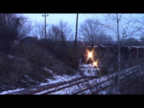 HD Pan Am train WAAY chase from the state line to the Ferry Rd bridge! 12-31-16
