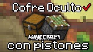 ¡Cofre Oculto Con Pistones En Minecraft Pe 0.15.1! | Cofre Ultra Secreto
