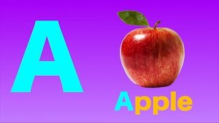 A is for Apple - ABC Alphabet Phonics Song Nursery Rhymes for Kids