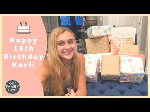 Happy 15th Birthday Karli Reese! Opening Birthday Presents!
