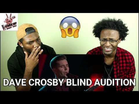 The Voice 2017 Blind Audition  Dave Cros: I Will Follow You into the Dark REACTION