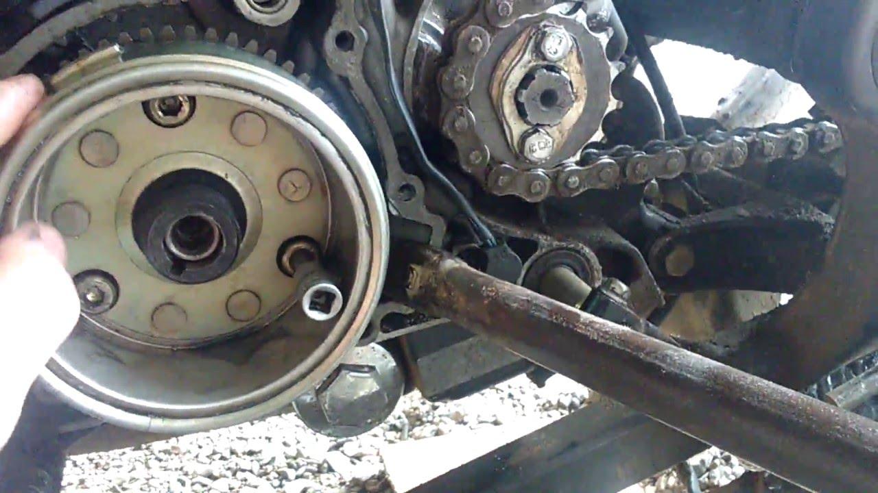 Разбор Patron Sport 250 . как снять магнит(Ротор Генератора) с двигателя с обгонной муфтой стартера