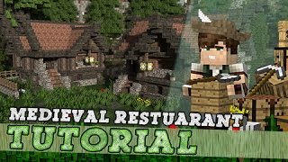 Minecraft Tutorial: Building A Medieval Restaurant / Brewery!