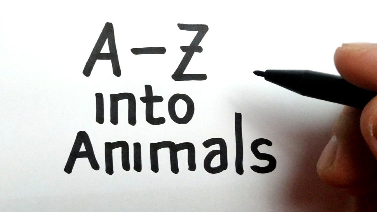 Download VERY EASY, How to turn letter A-Z into cartoon animals
