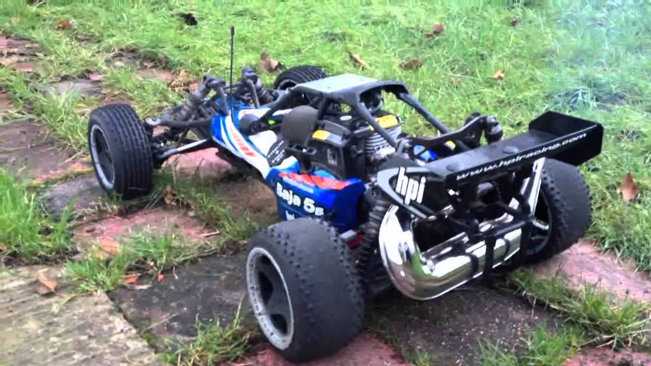 Hpi Baja 5b With Rear Dominator Pipe Idle Sound Youtube