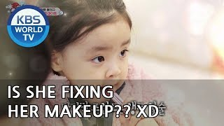 Is LANI fixing her makeup? XD [The Return of Superman/2018.12.30]