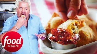 Guy Tries Delicious Traditional Food At Bruno's Little Italy | Diners, Drive-Ins & Dives