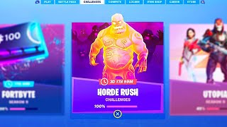 The FREE HORDE RUSH ITEMS in Fortnite..