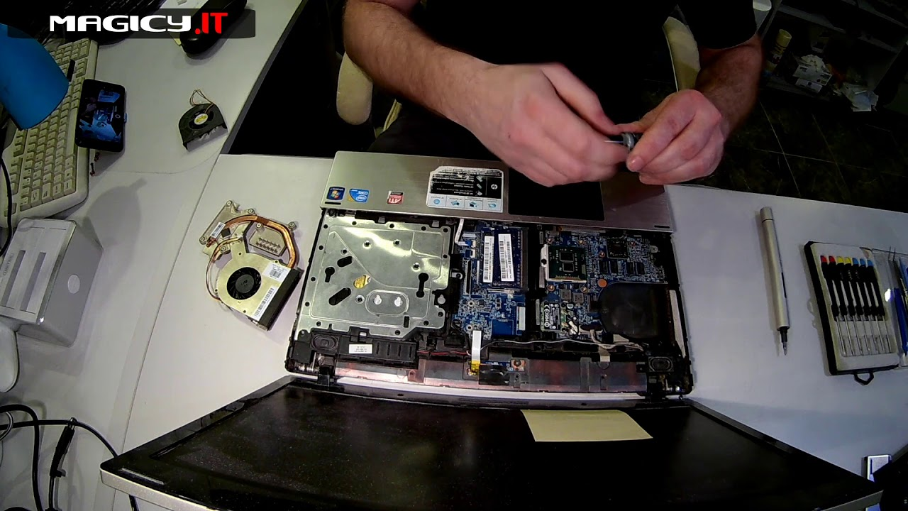 HP ProBook 4520s Disassembly - Fan Replacement