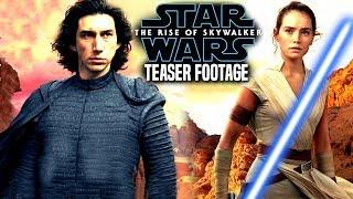 The Rise Of Skywalker Teaser Footage Revealed! Breakdown (Star Wars Episode 9 Trailer BTS)