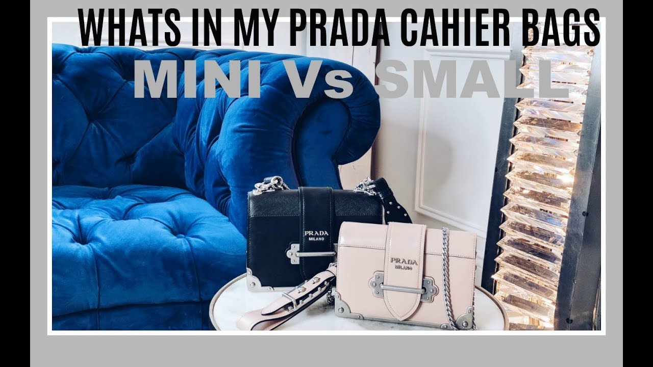 7cf2ff9dd1024b WHATS INSIDE MY PRADA CAHIER BAGS | COMPARING THE MINI AGAINST THE SMALL  CAHIER | IAM CHOUQUETTE