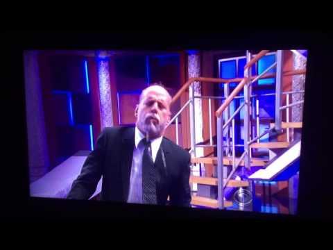 Bruce Willis's stunt double -vs- Stephen Colbert's stunt double, on The Late Show