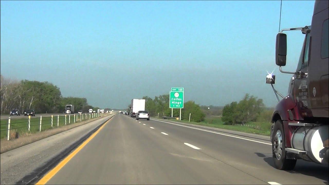 Iowa - Interstate 80 West - Mile Marker 160 to 150 (5/17/13)