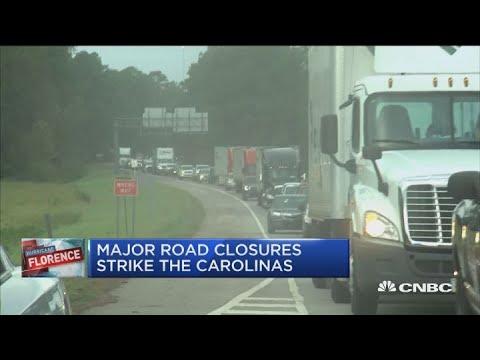 Major road closures strike the Carolinas