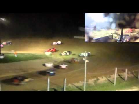 Dayton Brewer Woodhull Raceway GRIT Series Crate Sportsman Feature | 9-26-15