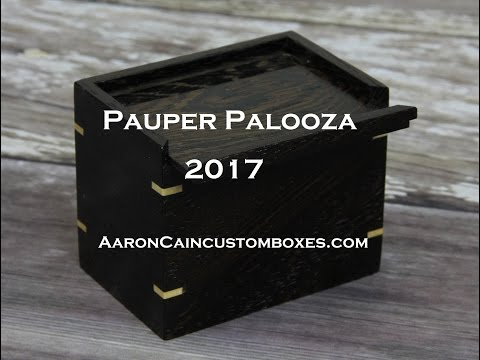 Pauper Palooza 2017 - Aaron Cain Custom Deck Boxes
